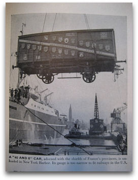 Merci Train LIFE Article 02/28/49 - Boxcar Unloading